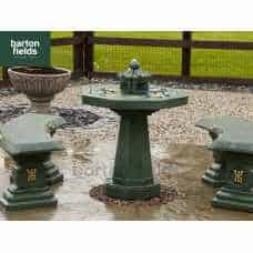 Oriental 3 Piece Patio Set in Verdigris Finish