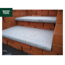 Natural Granite Bullnosed Steps in Graphite Grey - 600mm x 350mm x 40mm