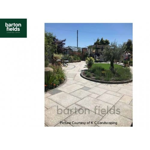 Natural Granite 4 Size Paving in Silver - Per m2