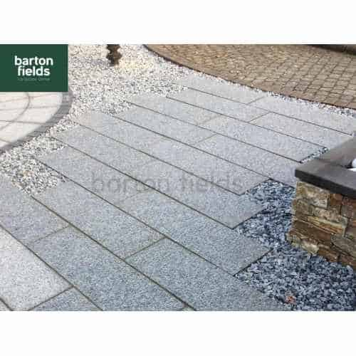 Natural Granite Paving in Silver - 100cm x 30cm Planks: Per m2