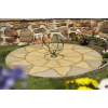 Bowland Aurora Circle Feature in Antique Grey/Barley - 1.8m Diameter