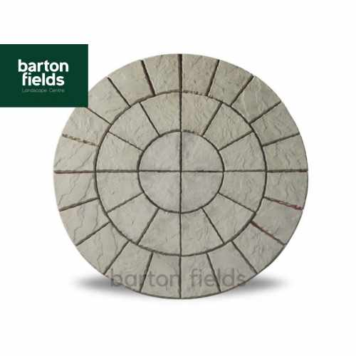 Bowland Cathedral Circle Feature in Weathered Moss - 2.56mtr Dia