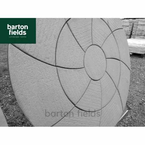 Bowland Catherine Wheel Circle Feature in Weathered Slate - 2.09m Diameter