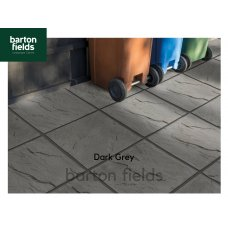 Bradstone Peak Riven Paving Slabs in Dark Grey.  450x450mm - Pack (40)