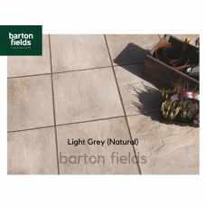 Bradstone Peak Riven Paving Slabs in Light Grey.  600x600mm - Pack (20)