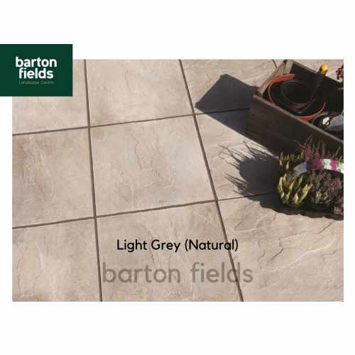 Bradstone 600x600mm Peak Riven Paving Slabs in Light Grey - Pack (20) Old Stock Priced to Clear