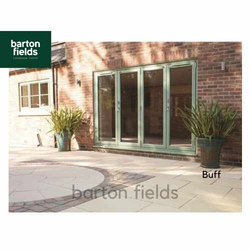 Bradstone Textured Paving Slabs in Buff.  450x450mm - Pack (40)