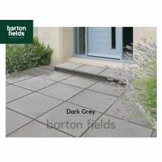 Bradstone Textured Paving Slabs in Dark Grey. 450x450mm Pack (40)