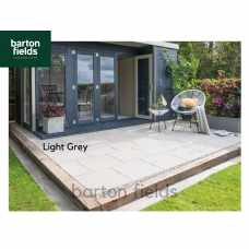 Bradstone Textured Paving Slabs in Light Grey. 600x600mm  - Pack (20)