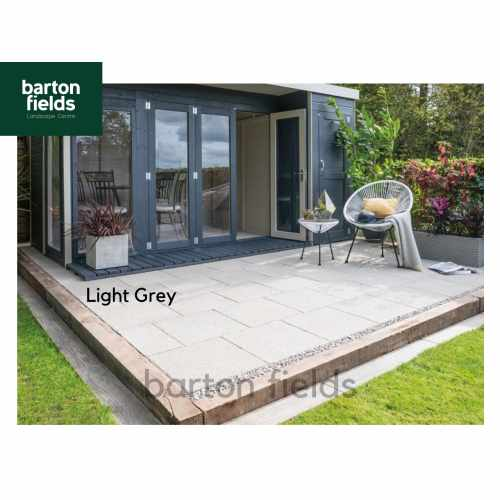 Bradstone 600x600mm Textured Paving Slabs in Light Grey - Pack (20) New Stock Priced to Clear