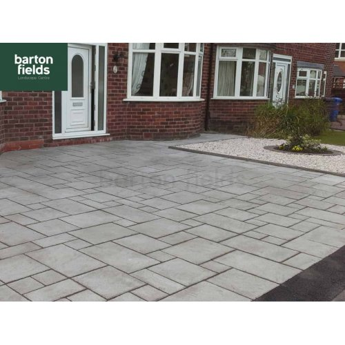 Driveway Flag 4 Size Paving in Silver - Project Pack 7m2