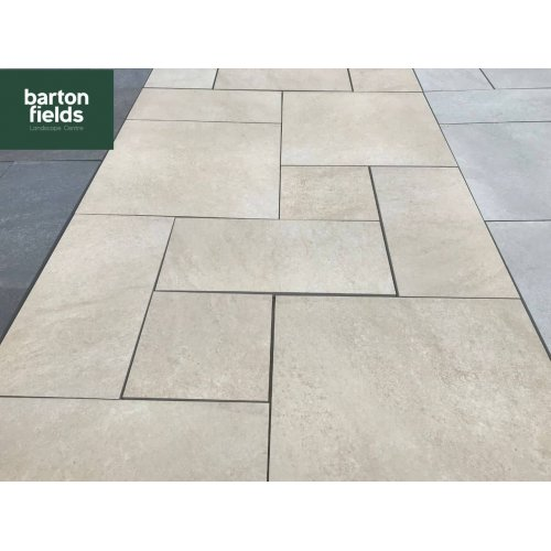 Oatmeal Beige 3 Size Porcelain Paving  - Patio Pack of 16.2m2