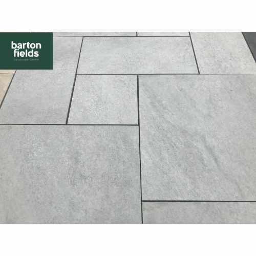 Porcelain Paving: Steel Grey 3 Size Porcelain Paving  - Patio Pack of 16.2m2
