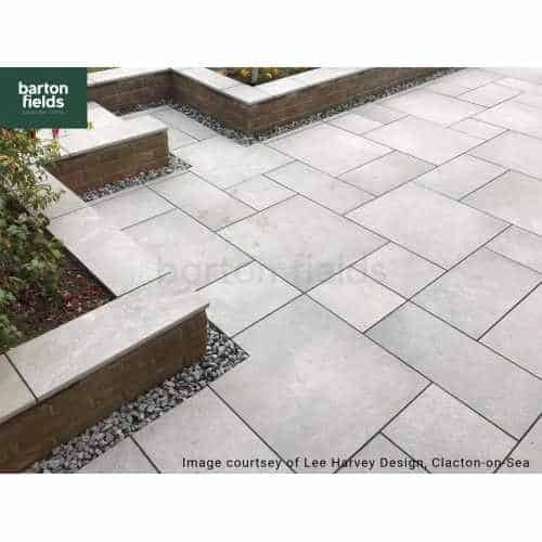 Bradstone Arenaria 3 Size Porcelain Paving in Light Grey - Patio Pack of 18.36m2