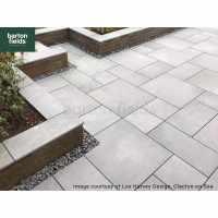 Bradstone Arenaria Porcelain Paving,  3 Size in Light Grey - Patio Pack of 18.36m2