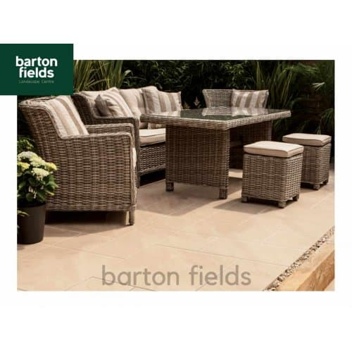 Bradstone Aspero 3 Size Porcelain Paving in Beige - Patio Pack of 18.36m2