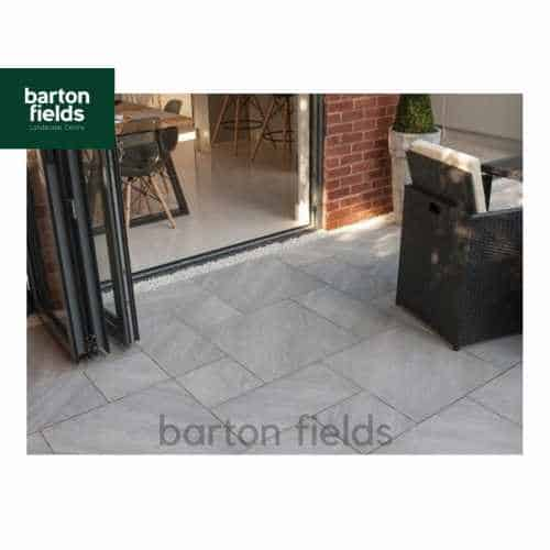 Bradstone Aspero 3 Size Porcelain Paving in Silver Grey - Patio Pack of 18.36m2