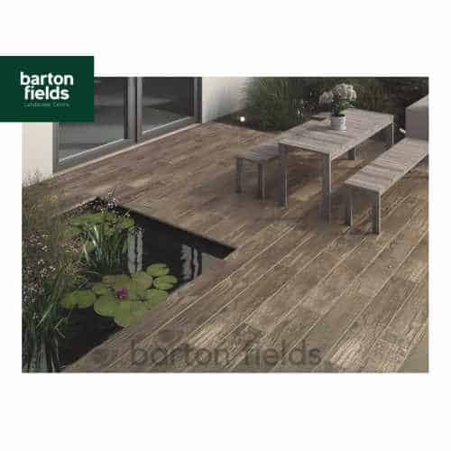 Bradstone Madera Antigua Oak Porcelain Paving - Patio Pack of 19.44m2