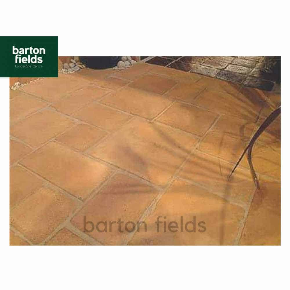 Terracotta Tile 10m2 Patio Pack Mixed Sizes Decorative