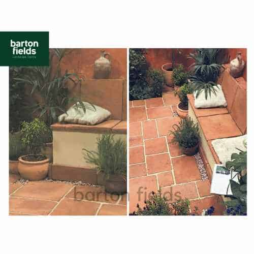 Terracotta Tile 10m2 Patio Pack - Mixed Sizes