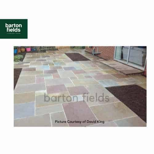 Natural Sandstone 4 Size Paving in Forest Blend - Per m2