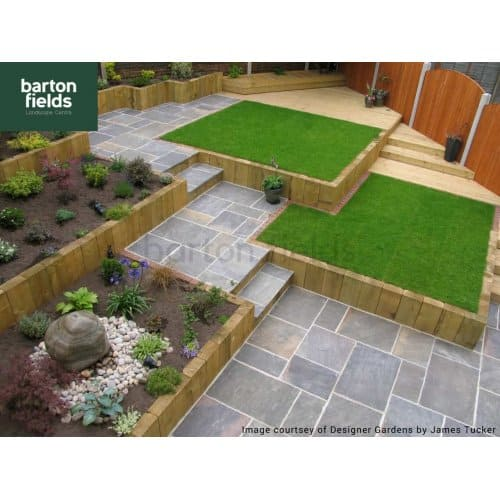Natural Sandstone 4 Size Paving in Galaxy - Per m2