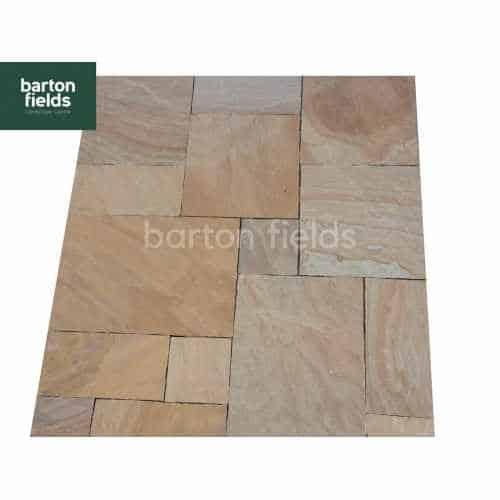 Natural Sandstone 4 Size Paving in Harvest Blend - Per m2