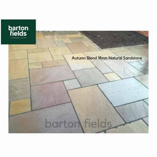 Natural Sandstone 4 Size Paving in Autumn Blend - Crate of 20.65m2