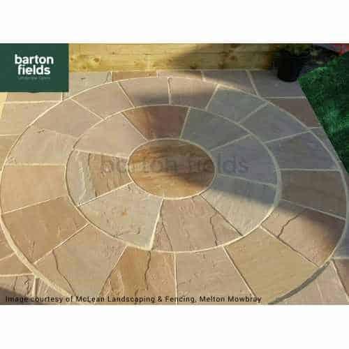 Natural Sandstone 2.7m Dia Circle Paving Feature - Forest Blend Colour