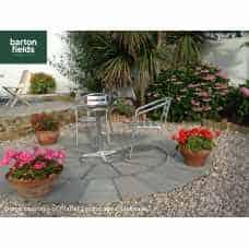 Natural Sandstone 3.6m Dia Circle Paving Feature - Kandla Grey Colour