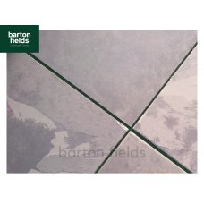 Natural Brazilian Slate Paving Tiles in Black:  Large Size; 800x800mm