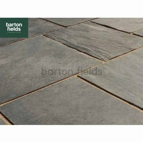 Natural Slate 6 Size Paving in Black - 10.2m2 Patio Pack