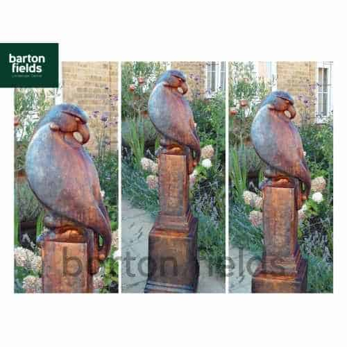 Eagle on Vienna Plinth in Burnt Umber Finish - Height 1400mm