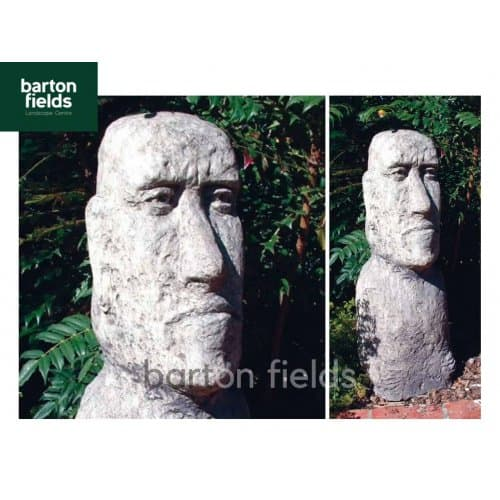 Large Moai Head in Antique Cotswold Finish - Height 910mm