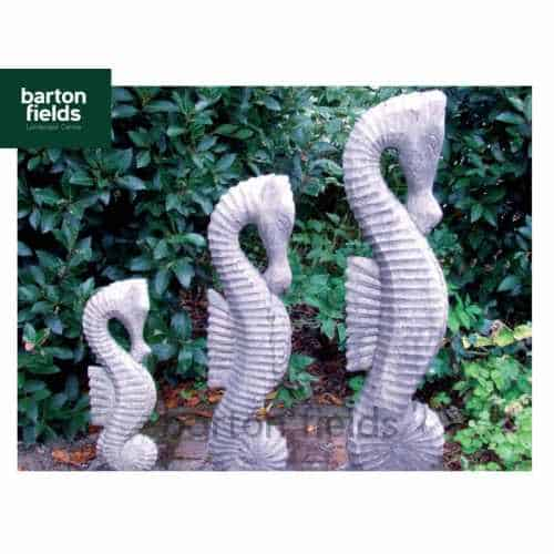 Seahorses in Antique Cotswold Finish - Set of 3