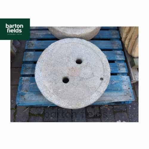 Reclaimed Natural Granite Millstone - 620mm x 100mm