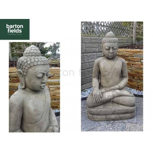 Grand Buddha Statue in Old Stone Finish