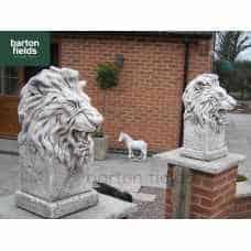 Etosha Lions Garden Gatekeeper Statues, A Pair