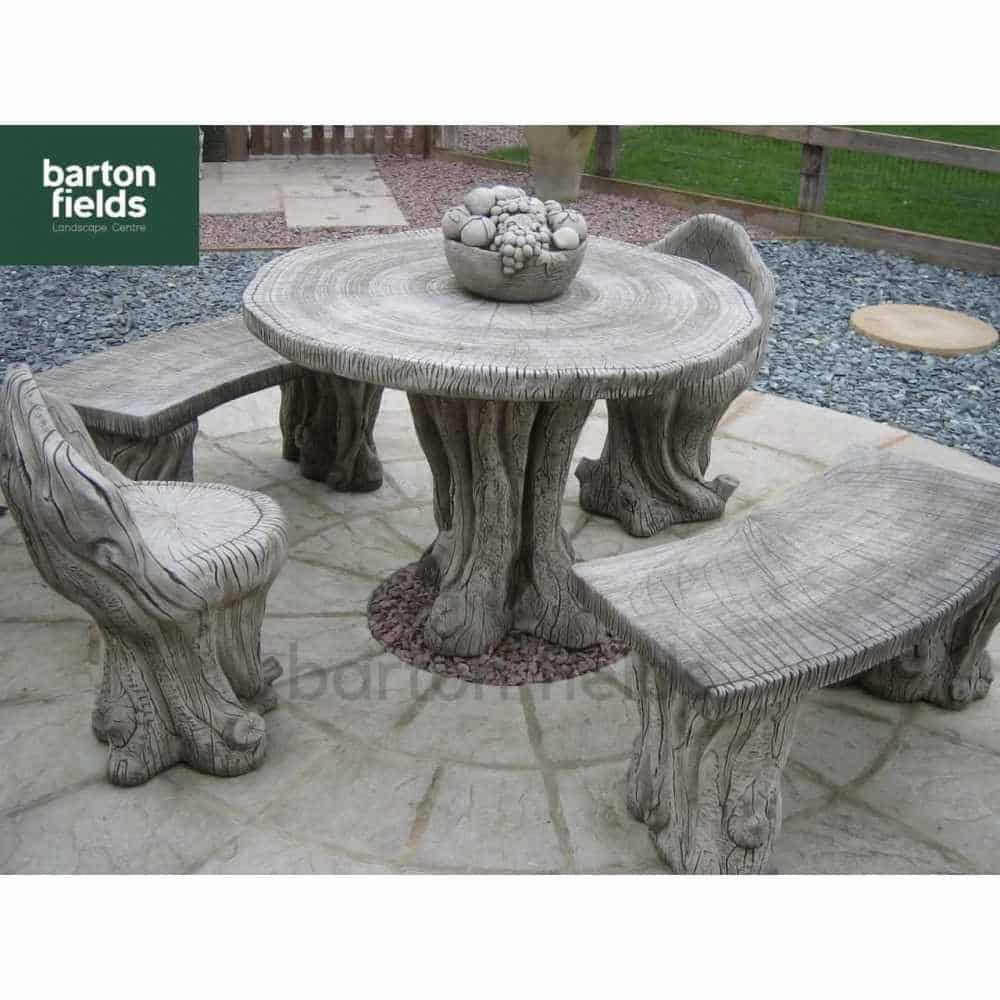 woodland patio stone furniture set rh bartonfields co uk stone patio table and benches stone patio table sets