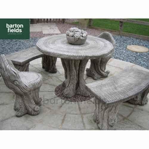 Woodland Patio Stone Furniture Set