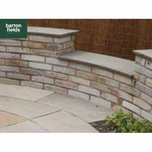 Natural Sandstone Walling in Mint Colour, 325mmx100mmx55mm-75mm, Packs of 4.5m2