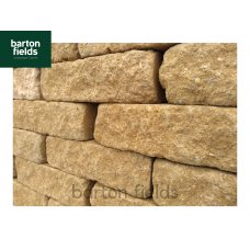 Tumbled Garden Walling Stone, 229x100x65mm Size Walling in Cotswold Buff Colour - Pack 5m2