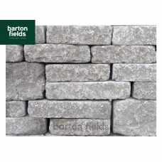 Tumbled Garden Walling Stone, 3 Size Walling Project Pack in Grey Colour - PacK 5m2