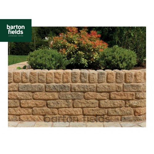 Tumbled Garden Walling Stone, 229x100x65mm Size Walling in York Brown Colour - Pack 5m2