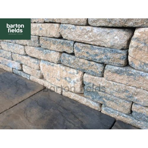 Tumbled Garden Walling Stone, 3 Size Walling Project Pack in York Brown Colour - PacK 5m2