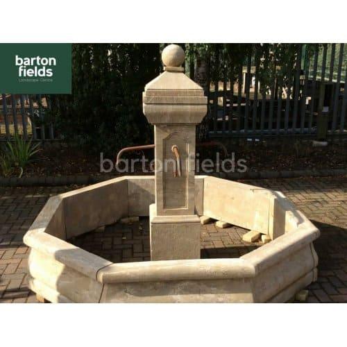Natural Limestone Fountain - French Lyon Design: 2.3mtr Diameter