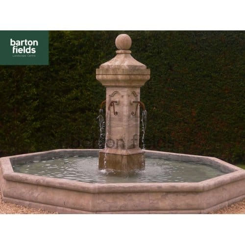 Natural Limestone Fountain - French Town Square Style: 3.5mtr Diameter