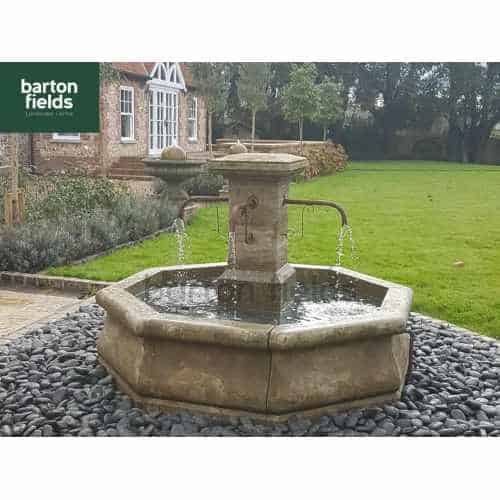 Natural Limestone Fountain - French Village Style: 1.7mtr Diameter