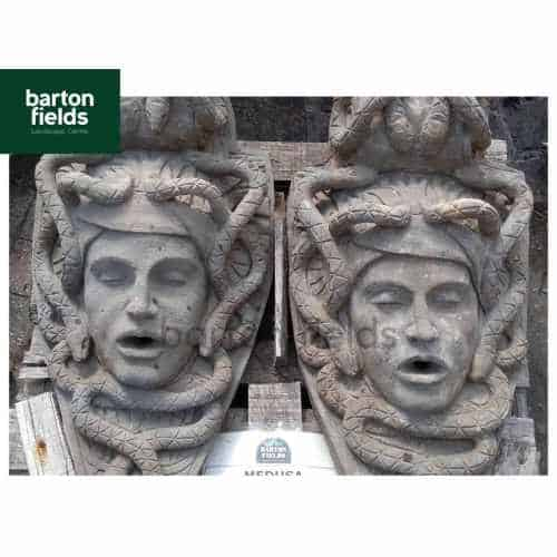 Natural Limestone Medusa Head - 600x350mm Wall Plaque Water Feature