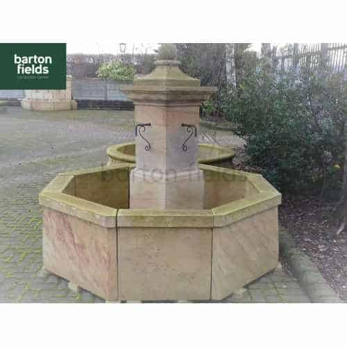 Natural Sandstone Fountain - French Abbey Style: 1.9mtr Diameter